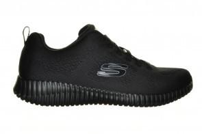 Volledig Zwarte Sneaker Veterschoen Skechers