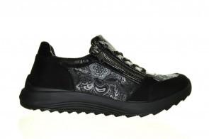 Zwart Comfort Sneaker Lak