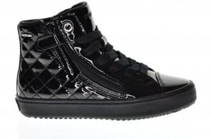 Zwart Lak Sneaker Meisjes Geox