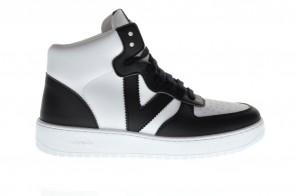 Zwart Witte Sneaker Hoog Victoria