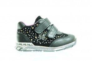 Zwarte Baby Sneaker Glitter