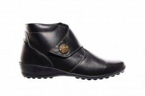 Zwarte Dameslaarzen Velcro