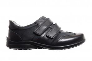 Zwarte Geklede Herenschoen Met 2 Velcro's
