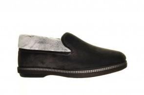 Zwarte Gesloten Pantoffels Wol