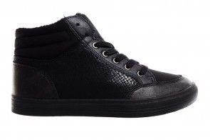 Zwarte Hoge Winter Damessneaker
