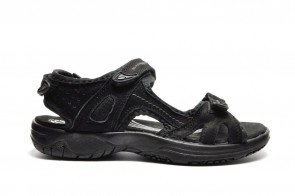 Zwarte Lederen Dames Sandalen