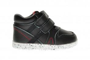 Zwarte Lederen Kinderschoenen