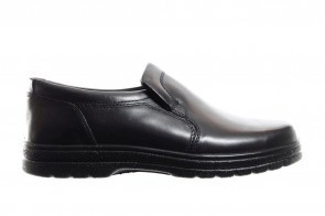Zwarte Lederen Mocassin Heren