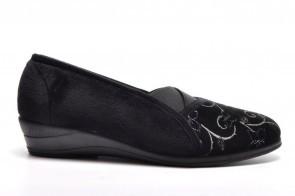 Zwarte Pantoffel Zwart Elegant