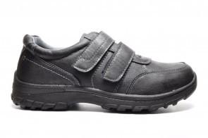 Zwarte Velcroschoenen Heren Comfort